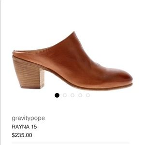 Gravitypope Italian chestnut brown leather mules